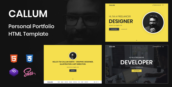 Callum – Personal Portfolio HTML Template