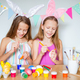 Happy easter. Beautiful little kids wearing bunny ears on Easter day - PhotoDune Item for Sale