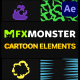 Cartoon And Scribble Elements | After Effects - VideoHive Item for Sale