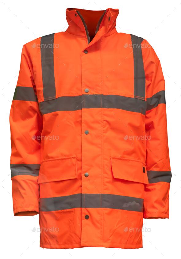 Isolated Orange Hi-Vis Jacket - Stock Photo - Images