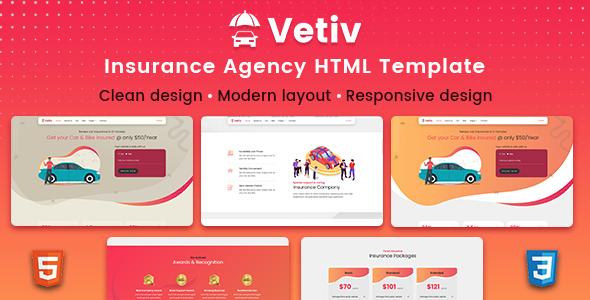 Vetiv – Insurance Agency HTML Template