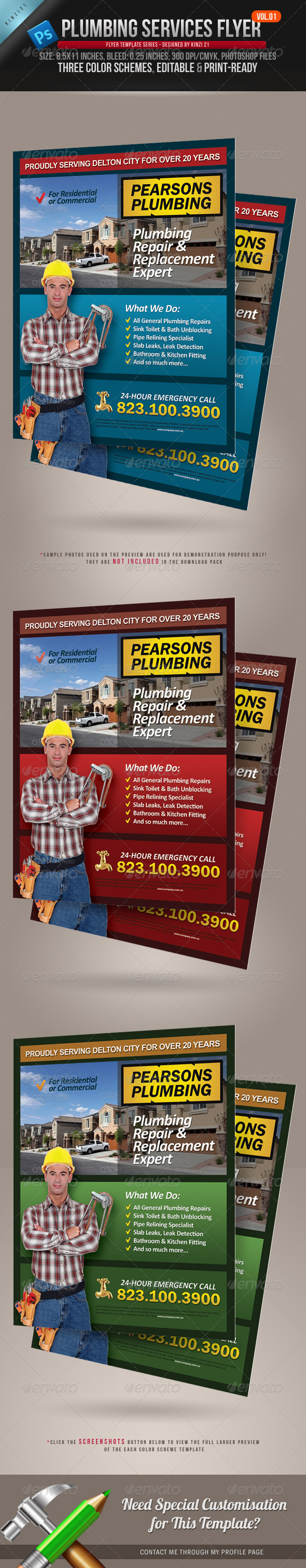 Plumbing Services Flyer Vol.01 - Corporate Flyers