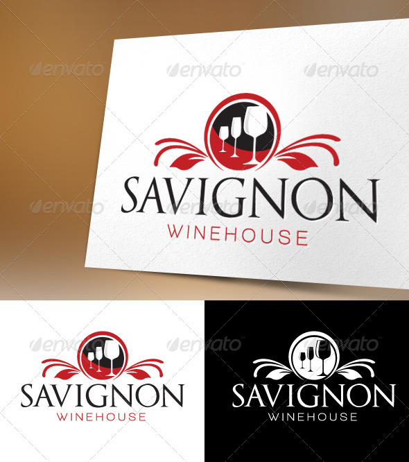 Savignon Winehouse Logo Template - Food Logo Templates