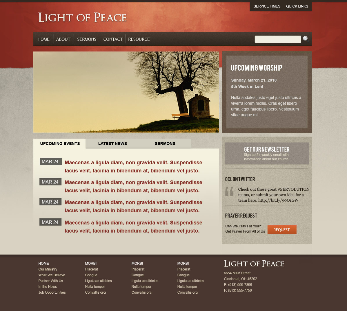 Light Of Peace By Population ThemeForest - Web home page template