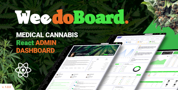 Weedoboard   Cannabis Dashboard React Template