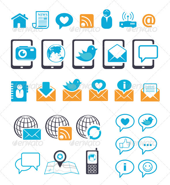 Communication Icons - Communications Technology