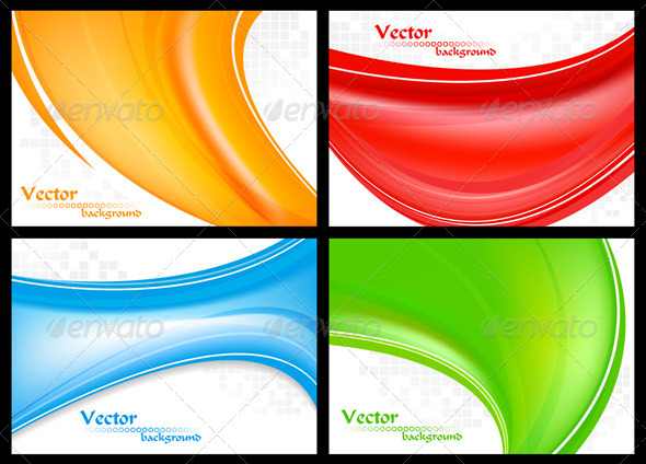 Abstract colourful waves - Backgrounds Business