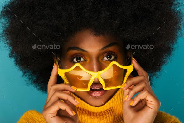 Beautiful afro woman - Stock Photo - Images