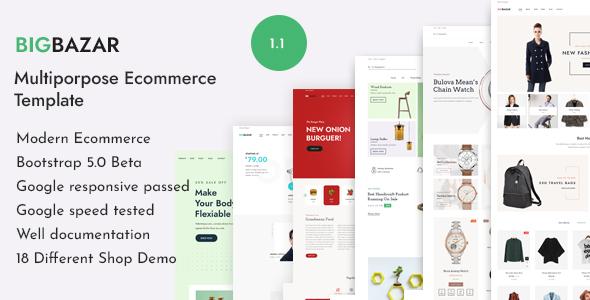 BigBazar – Multipurpose eCommerce HTML Template