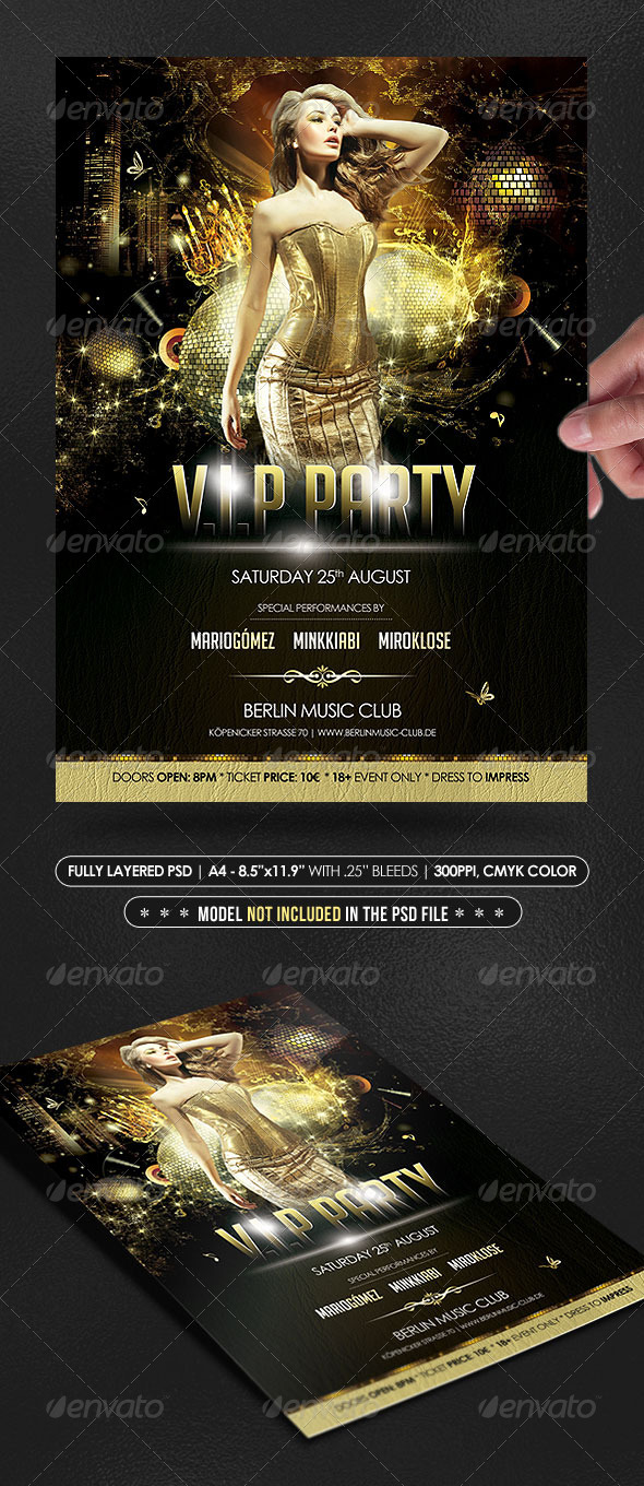 V.I.P Party Poster/Flyer - Events Flyers