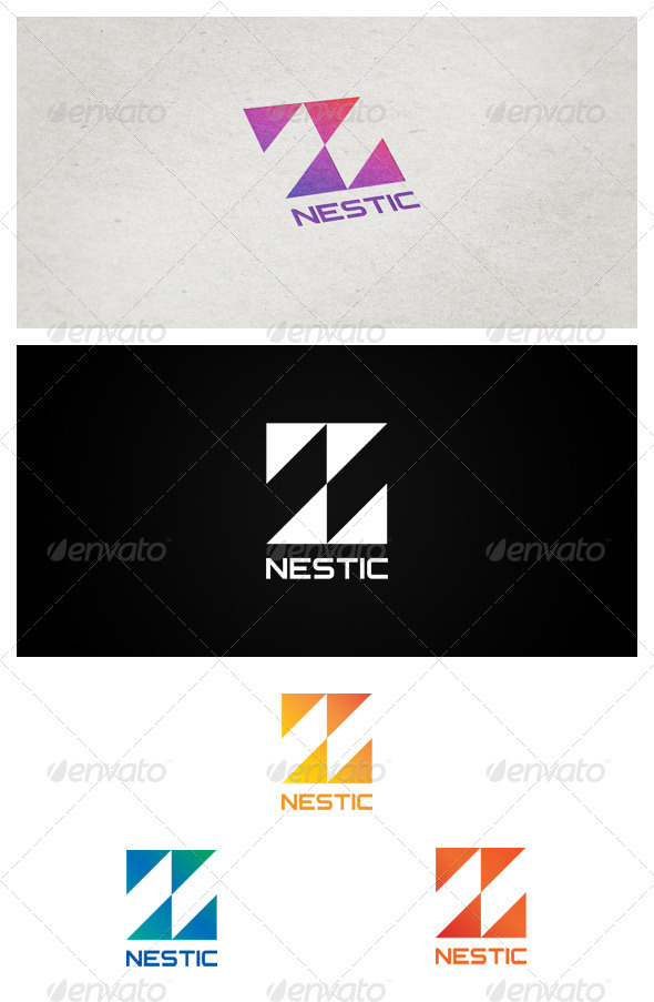 Nestic - Letters Logo Templates