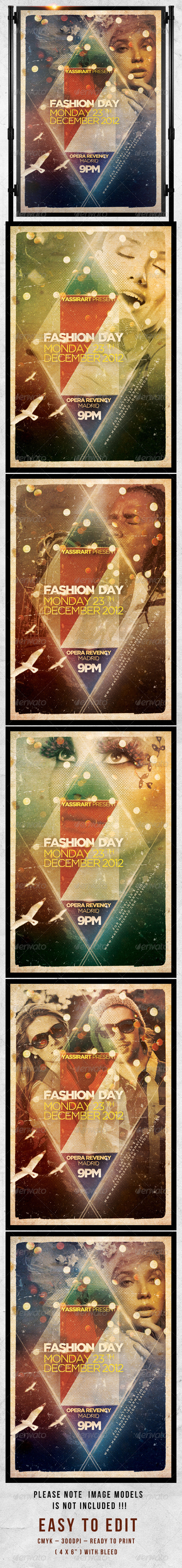 Fashion Day Flyer Template  - Clubs & Parties Events