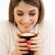 Coffee. Beautiful Girl Drinking Coffee - PhotoDune Item for Sale