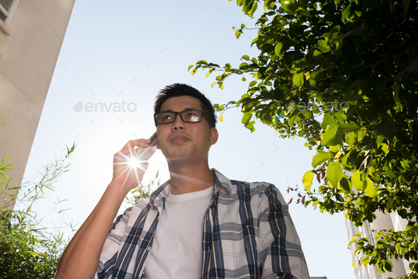 Talking on phone - Stock Photo - Images