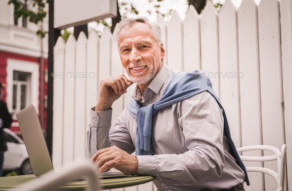 Handsome senior man - Stock Photo - Images