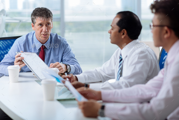 Meeting with employees - Stock Photo - Images