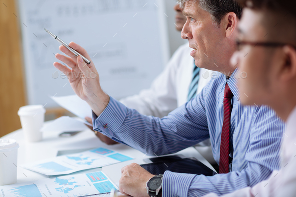 Conducting meeting - Stock Photo - Images
