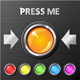 Vector Glossy Buttons - GraphicRiver Item for Sale