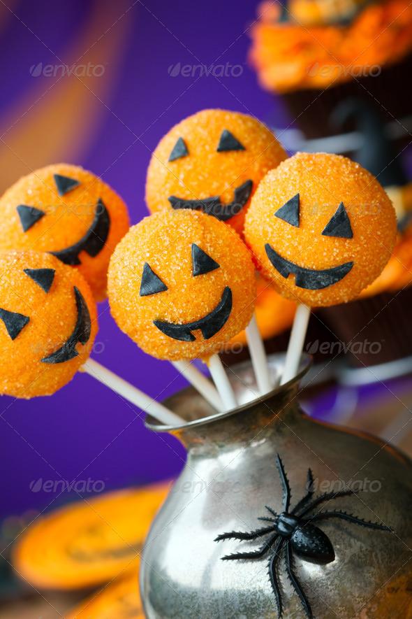 Halloween cake pops - Stock Photo - Images