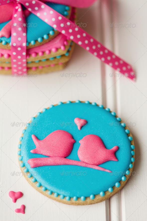 Lovebird cookies - Stock Photo - Images
