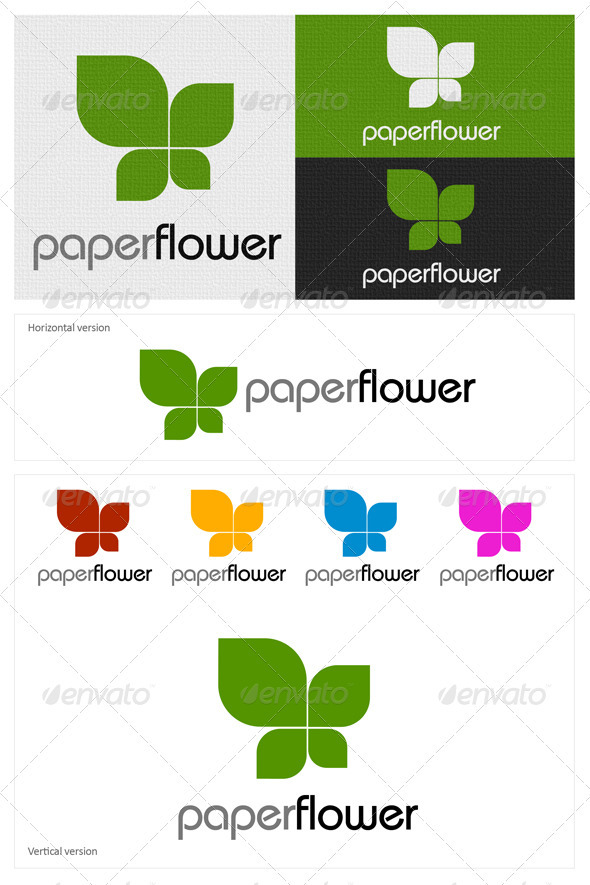Paper Flower - Nature Logo Templates