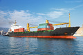 cargo container ship in ocean - PhotoDune Item for Sale