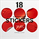 18 Photorealistic Stickers