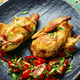 Baked quail and vegetable salad - PhotoDune Item for Sale