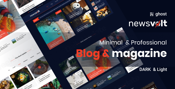 Newsvolt - Professional News and Magazine Style Ghost Blog Theme