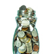 Glass bottle with coins on white background, savings concept - PhotoDune Item for Sale
