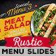 Rustic Restaurant Menu Slideshow - VideoHive Item for Sale