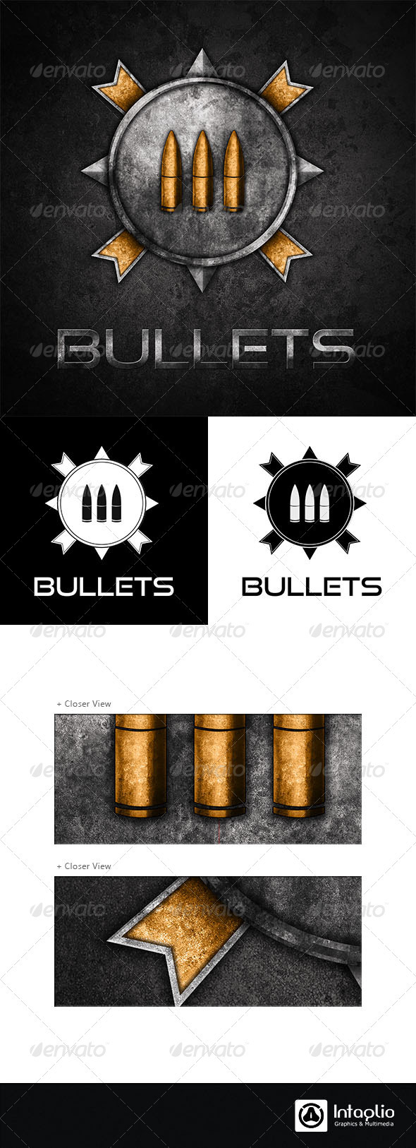 Military / Gaming Logo - Bullets - Crests Logo Templates