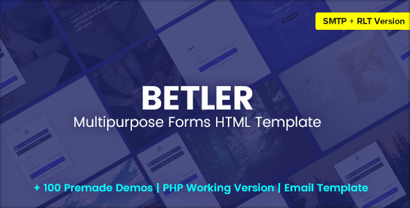 Betler – Multipurpose Forms HTML Template