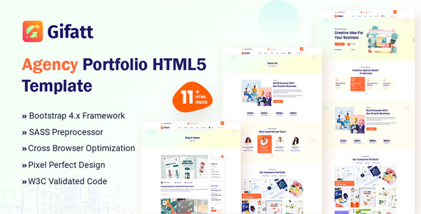 Wonderful Gifatt - Agency Portfolio HTML5 Template
