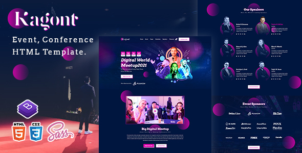 Kagont – Event, Conference And Meetup HTML Template