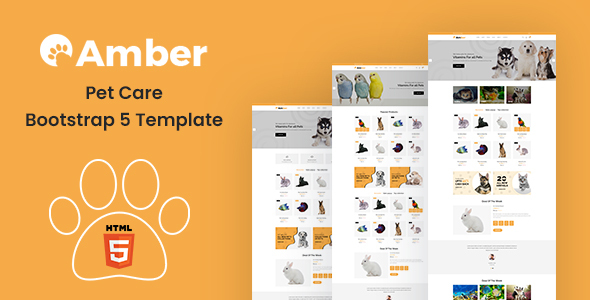 Amber – Pet Care Bootstrap 5 Template