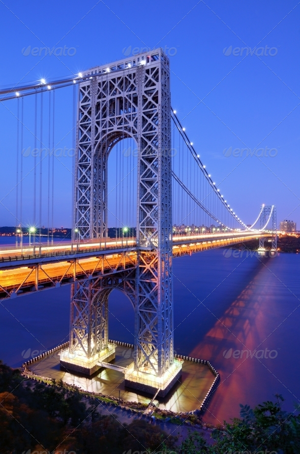 George Washington Bridge in New York - Stock Photo - Images