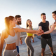 Group of fit healthy friends, people exercising together outdoor - PhotoDune Item for Sale