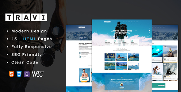 Travi – Tour Guide And Excursions HTML Template