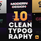 10 Clean Typography Scenes - VideoHive Item for Sale
