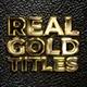 Real Gold Titles - VideoHive Item for Sale