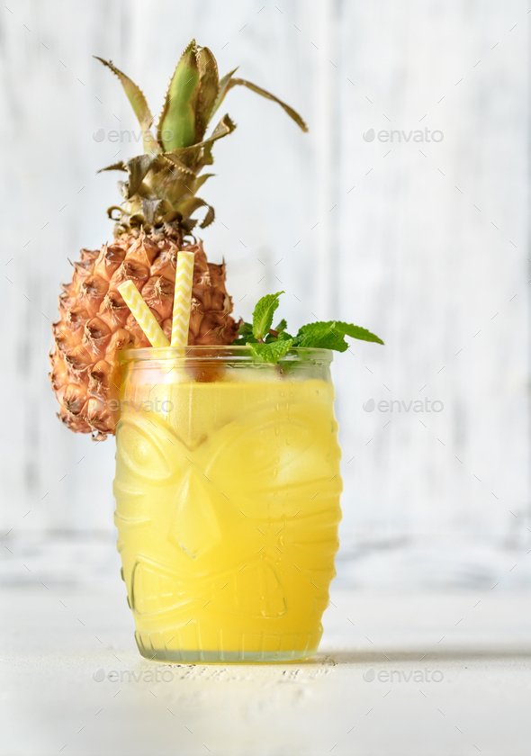 Pineapple cocktail - Stock Photo - Images