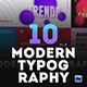 10 Modern Typography Scenes - VideoHive Item for Sale