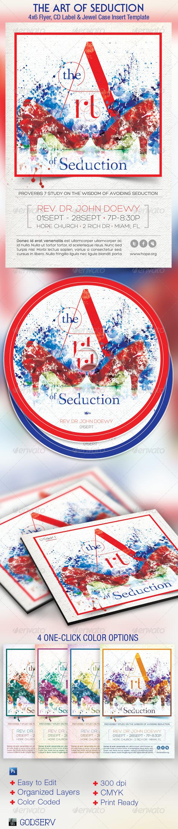 Seduction Church Flyer CD Template - Church Flyers