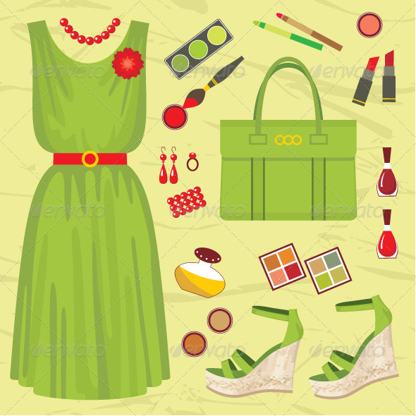 Fashion set - Conceptual Vectors