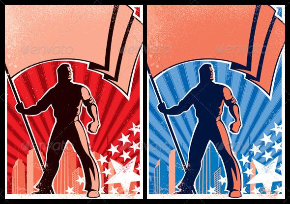 Flag Bearer Posters - Conceptual Vectors