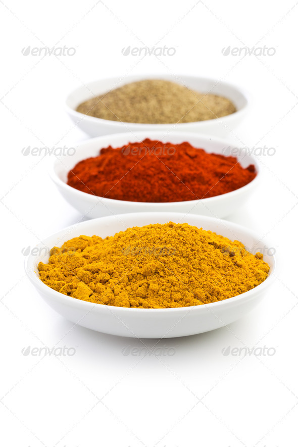 various colored spices - Stock Photo - Images