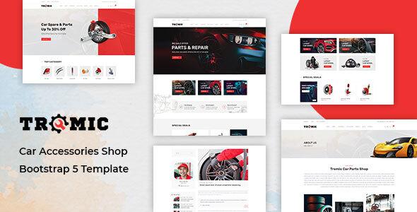 Tromic – Car Accessories Shop Bootstrap 5 Template