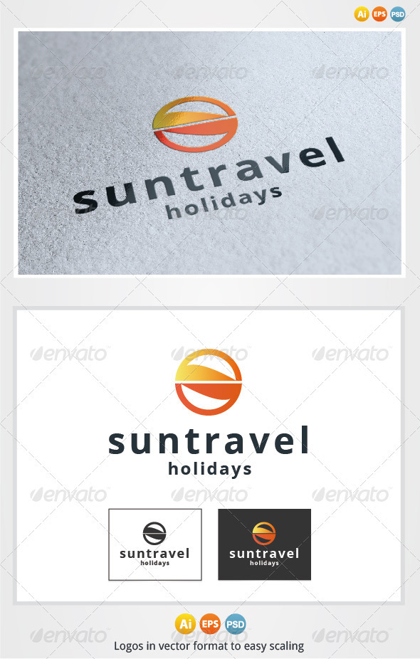 Sun Travel Logo - Symbols Logo Templates