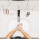 Top view Asian man hand washing with faucet water in Bathroom at home, - PhotoDune Item for Sale